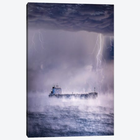 Anchored Away Canvas Print #BSV34} by Brent Shavnore Canvas Artwork