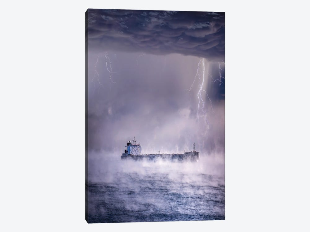 Anchored Away by Brent Shavnore 1-piece Canvas Wall Art