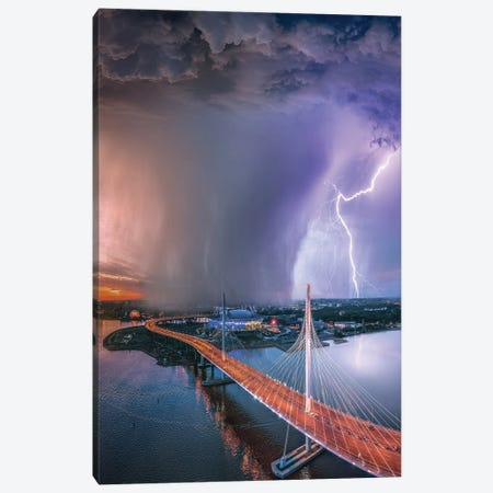 St Petersburg Bolt Canvas Print #BSV36} by Brent Shavnore Canvas Wall Art