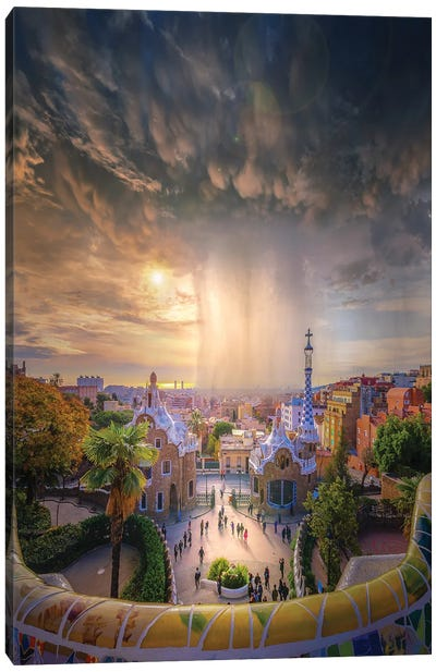 Barcelona Heaven Canvas Art Print
