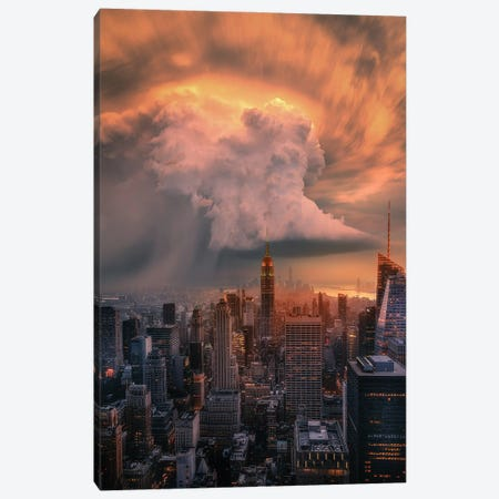 NYC Supercell Canvas Print #BSV38} by Brent Shavnore Canvas Print
