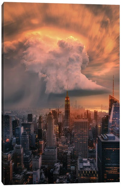 NYC Supercell Canvas Art Print