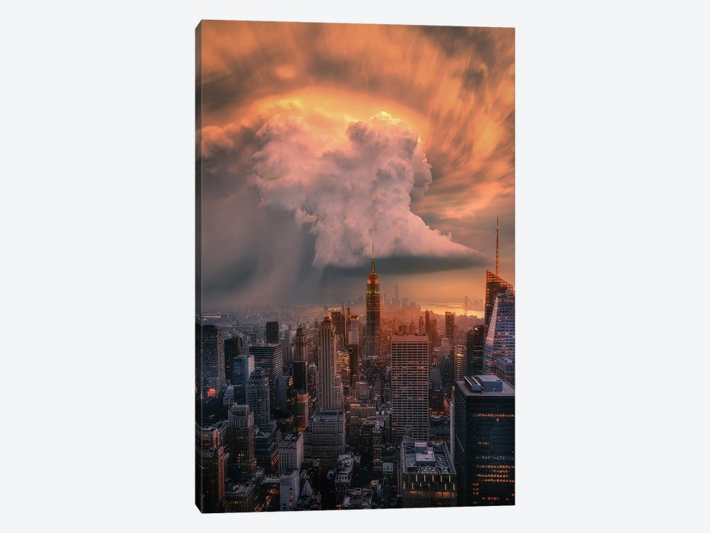 NYC Supercell by Brent Shavnore 1-piece Canvas Wall Art
