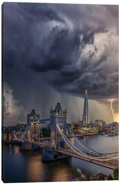 London Downpour Canvas Art Print