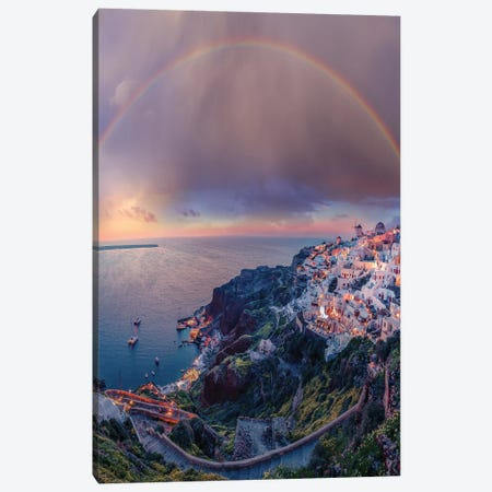 Greece Dreams Canvas Print #BSV3} by Brent Shavnore Canvas Artwork