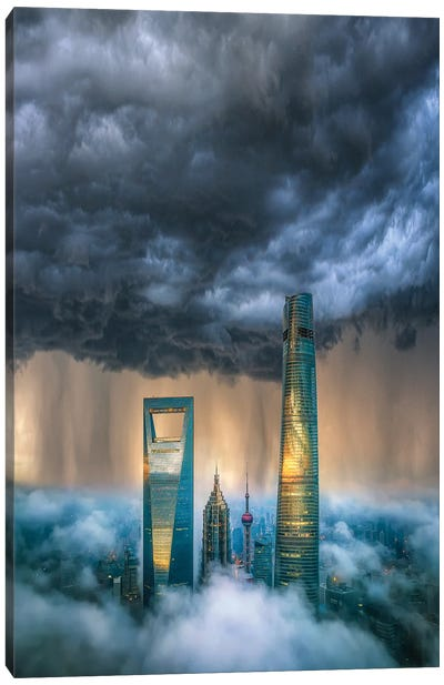 Above The Clouds Canvas Art Print