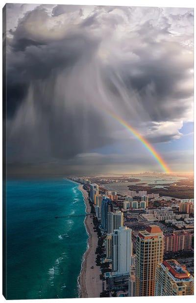 Rainbow Over Miami Canvas Art Print