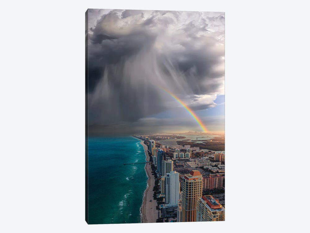 Rainbow Over Miami by Brent Shavnore 1-piece Canvas Wall Art