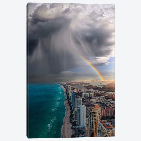 Rainbow Over Miami Canvas Print #BSV43} by Brent Shavnore Canvas Artwork