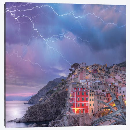 Cinque Terre Static Canvas Print #BSV44} by Brent Shavnore Canvas Art Print