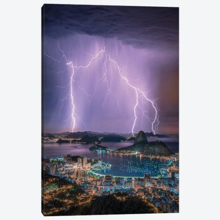 Rio Lights Canvas Print #BSV45} by Brent Shavnore Canvas Art Print
