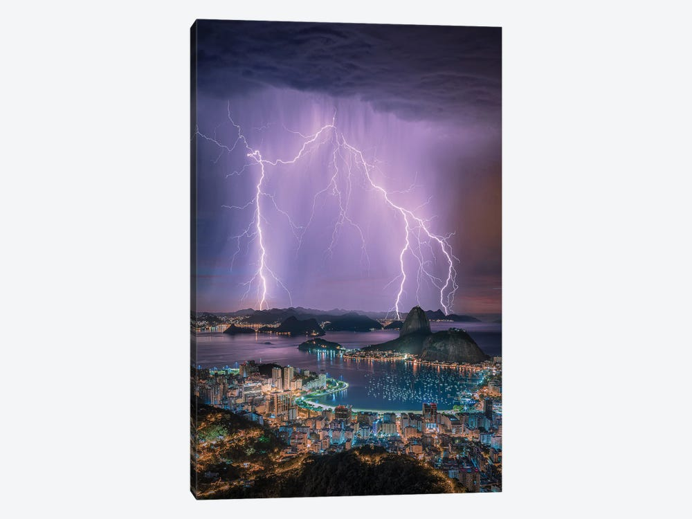 Rio Lights by Brent Shavnore 1-piece Canvas Wall Art