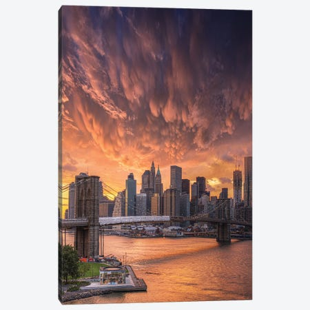 Flame Over NYC Canvas Print #BSV46} by Brent Shavnore Canvas Print