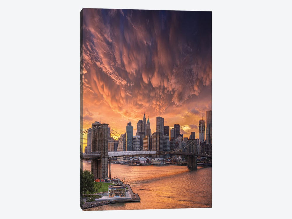 Flame Over NYC by Brent Shavnore 1-piece Canvas Print