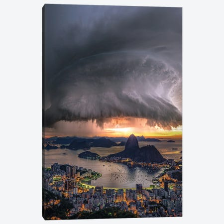 Rotation Over Rio Canvas Print #BSV47} by Brent Shavnore Art Print