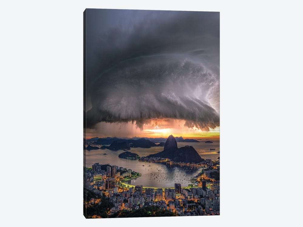Rotation Over Rio by Brent Shavnore 1-piece Canvas Wall Art