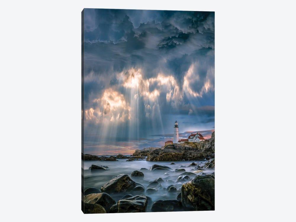 Cape Elizabeth Sunburst by Brent Shavnore 1-piece Canvas Art