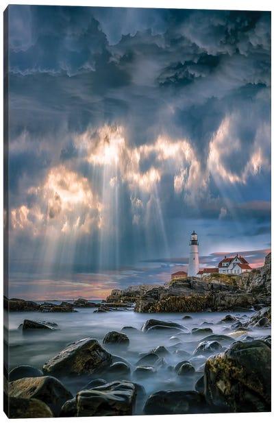 Cape Elizabeth Sunburst Canvas Art Print