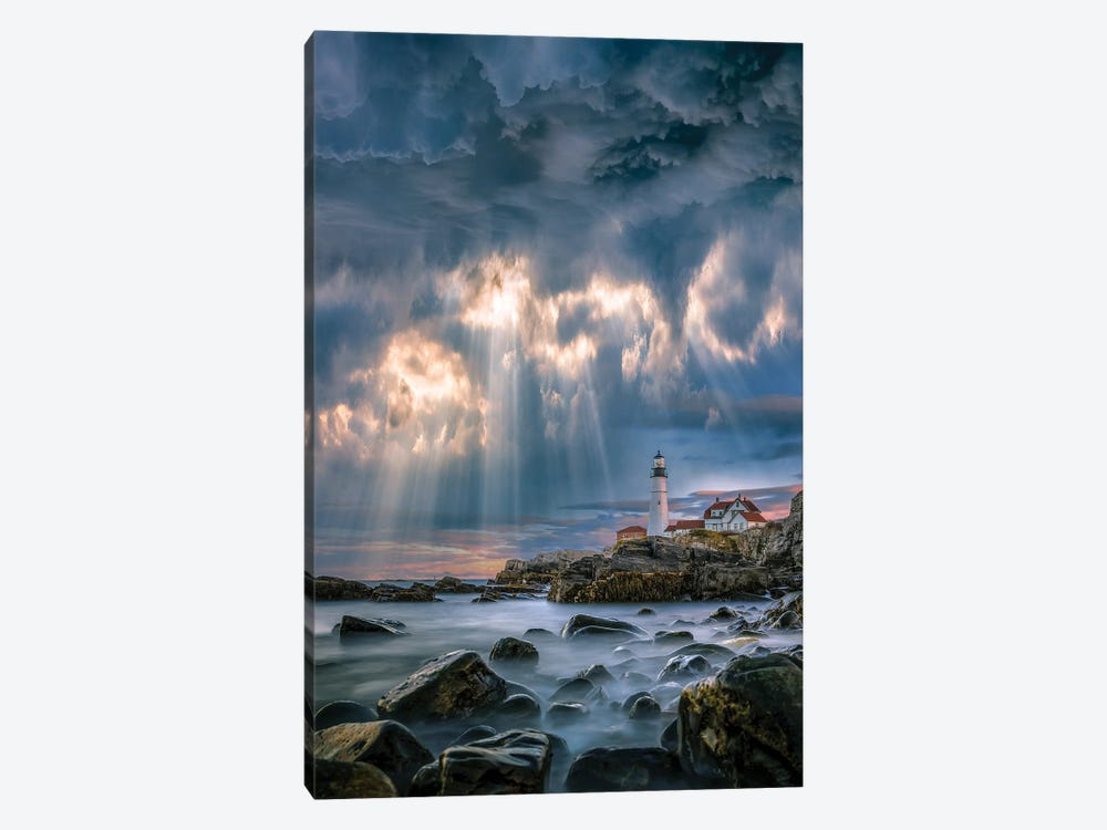 Cape Elizabeth Sunburst by Brent Shavnore 1-piece Canvas Art