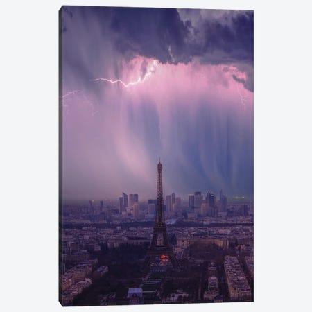 Terror In Paris Canvas Print #BSV4} by Brent Shavnore Art Print