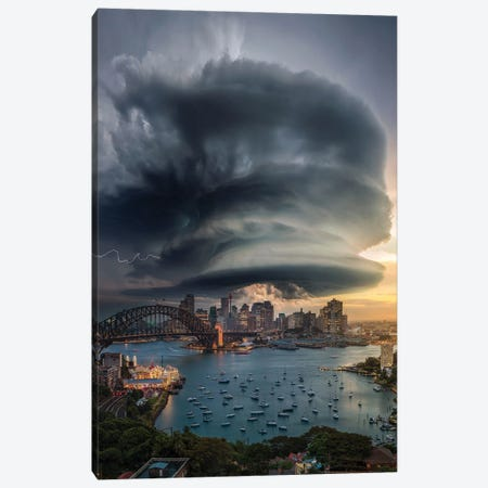Sydney Supercell 3-Piece Canvas #BSV52} by Brent Shavnore Canvas Art Print