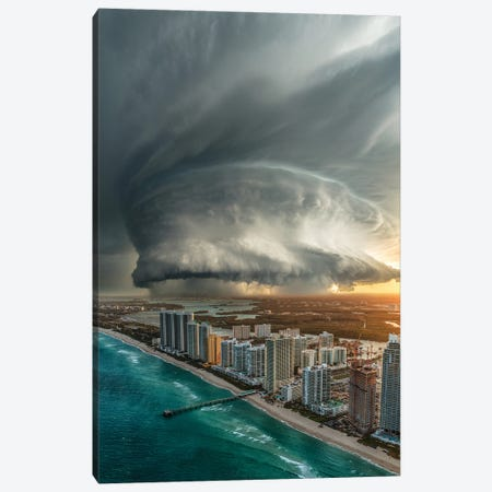 Miami Beach Doom Canvas Print #BSV53} by Brent Shavnore Canvas Art Print