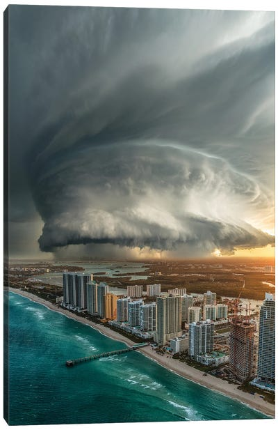 Miami Beach Doom Canvas Art Print