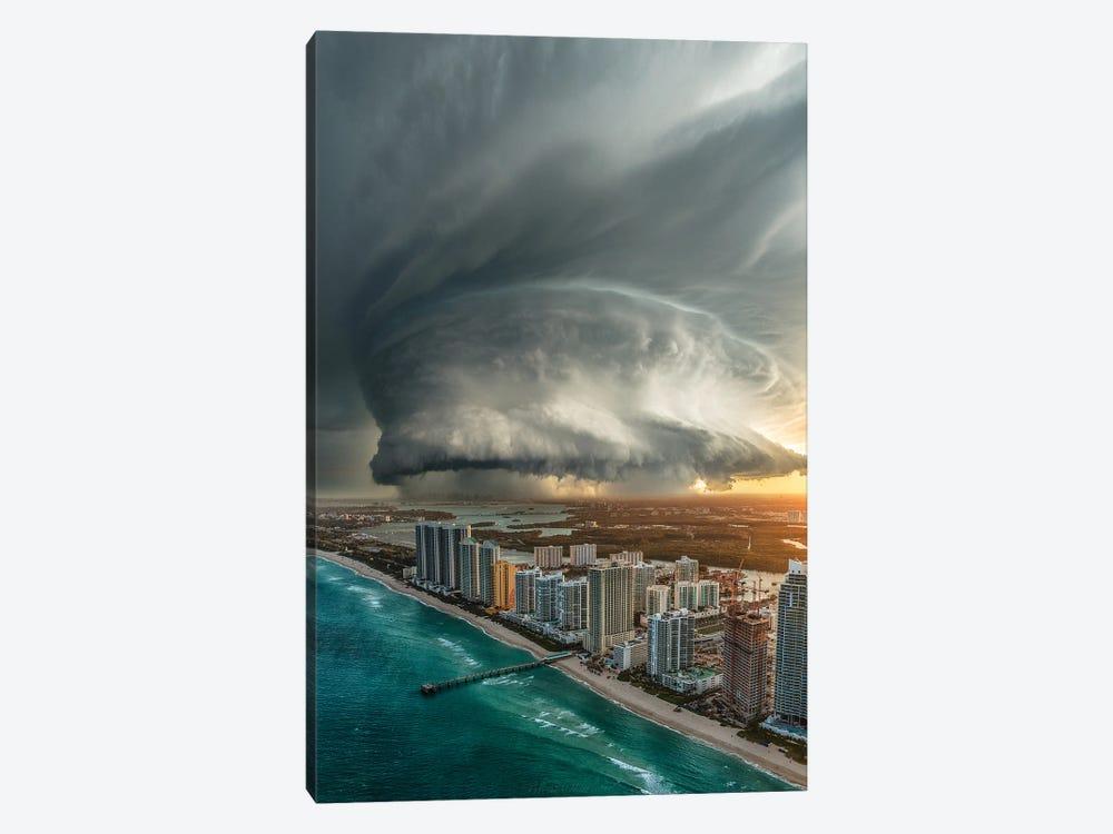 Miami Beach Doom by Brent Shavnore 1-piece Canvas Print