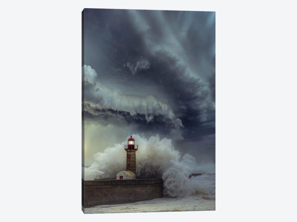 Lighthouse Chaos by Brent Shavnore 1-piece Canvas Artwork