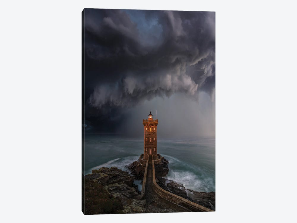 Lighthouse Downpour by Brent Shavnore 1-piece Canvas Print