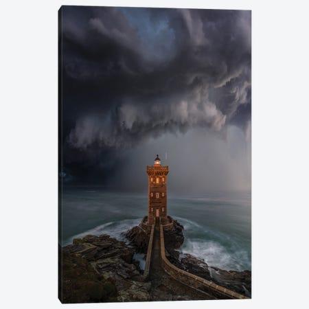 Lighthouse Downpour Canvas Print #BSV64} by Brent Shavnore Canvas Print