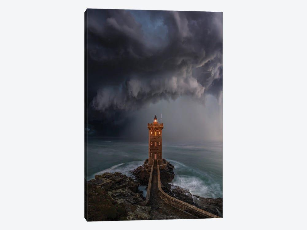 Lighthouse Downpour by Brent Shavnore 1-piece Canvas Print
