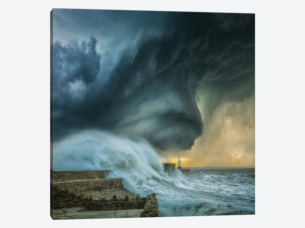 Lighthouse Swirl by Brent Shavnore 1-piece Canvas Artwork