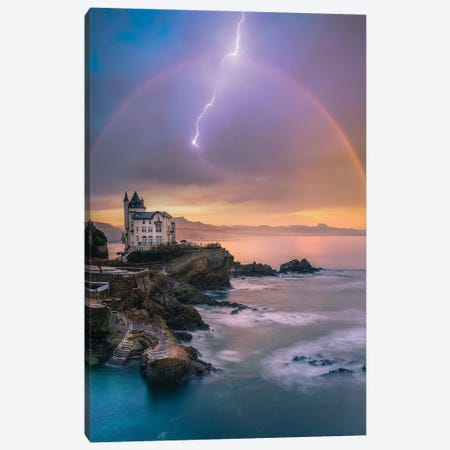 Biarritz Tranquility Canvas Print #BSV6} by Brent Shavnore Canvas Print