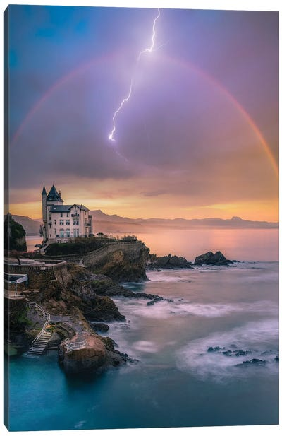 Biarritz Tranquility Canvas Art Print