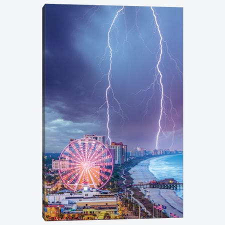Myrtle Beach Lights Canvas Print #BSV74} by Brent Shavnore Canvas Wall Art