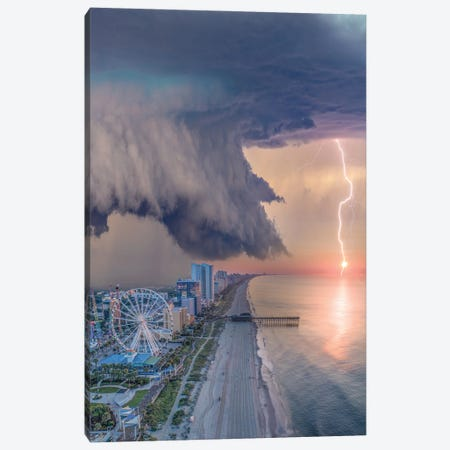 Myrtle Beach Shelf Cloud Canvas Print #BSV75} by Brent Shavnore Canvas Artwork