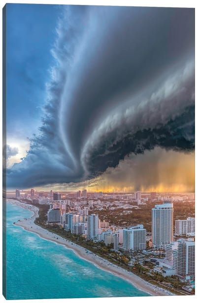 Miami Shelf Shelf Cloud 2.0 Canvas Art Print
