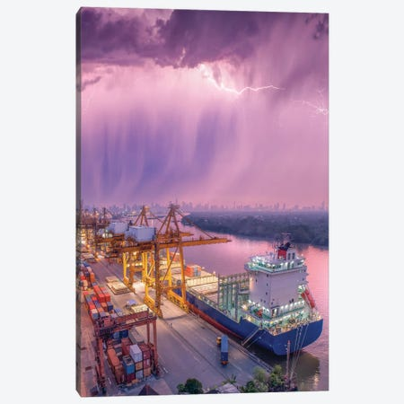 New Orleans Downpour Canvas Print #BSV78} by Brent Shavnore Canvas Print