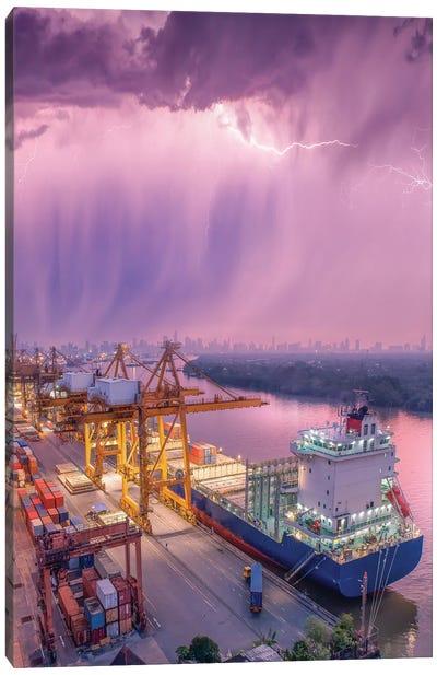 New Orleans Downpour Canvas Art Print