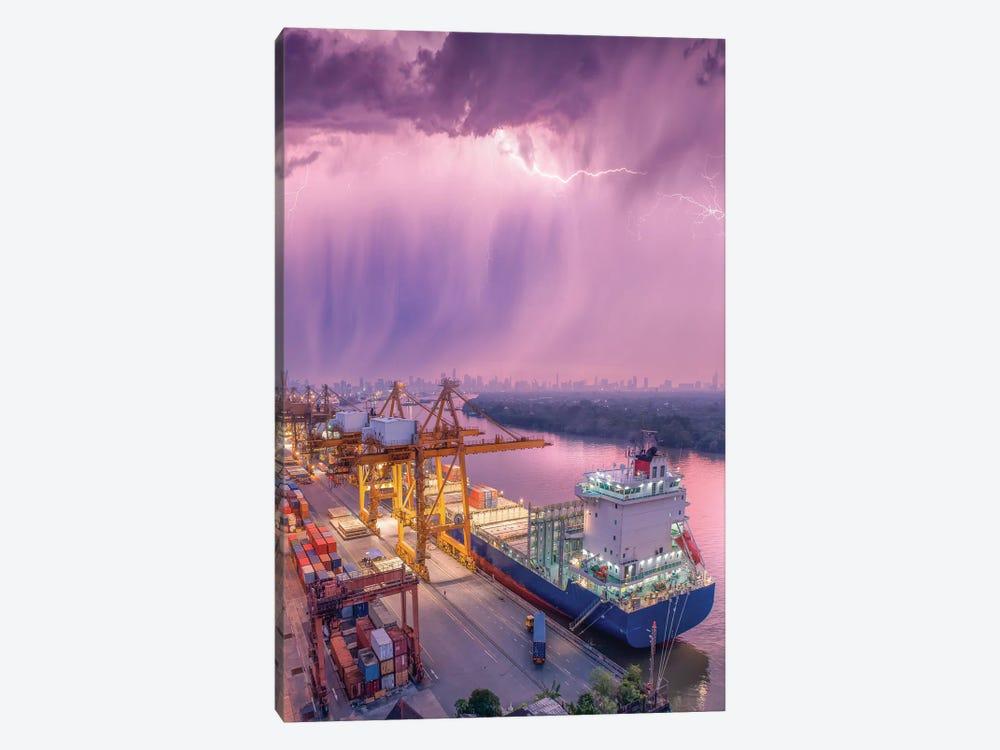 New Orleans Downpour by Brent Shavnore 1-piece Canvas Artwork