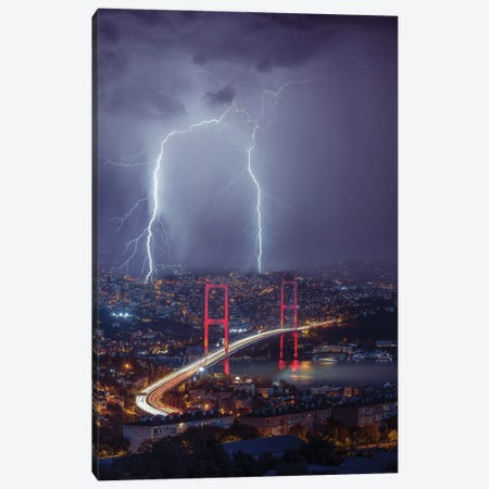 Istanbul Sparks Canvas Print #BSV80} by Brent Shavnore Canvas Art