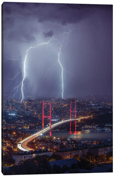Istanbul Sparks Canvas Art Print