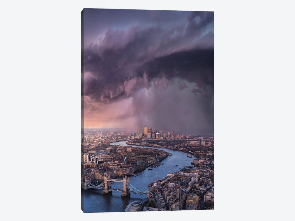 London Tears by Brent Shavnore 1-piece Canvas Wall Art