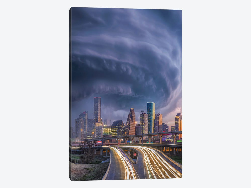 Houston Hurricane Laura by Brent Shavnore 1-piece Canvas Artwork