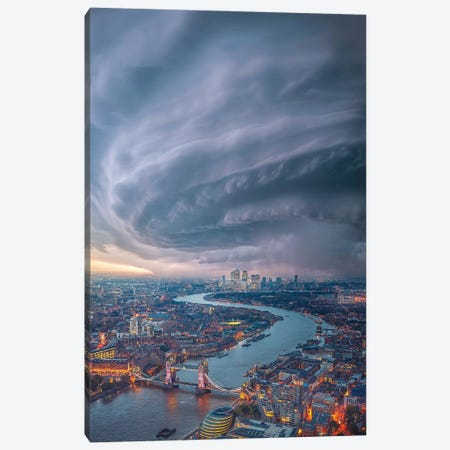 London Cyclone Canvas Print #BSV86} by Brent Shavnore Canvas Print