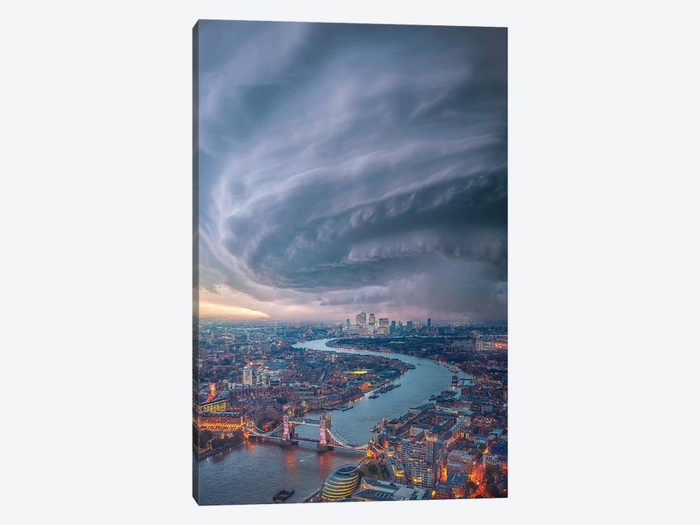 London Cyclone by Brent Shavnore 1-piece Canvas Art Print