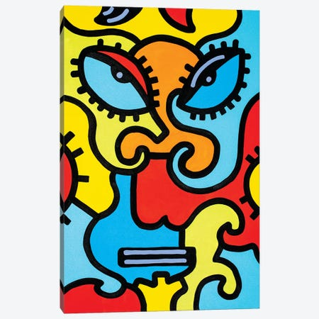 Shanghai Mask Canvas Print #BTA10} by Billy The Artist Canvas Art Print