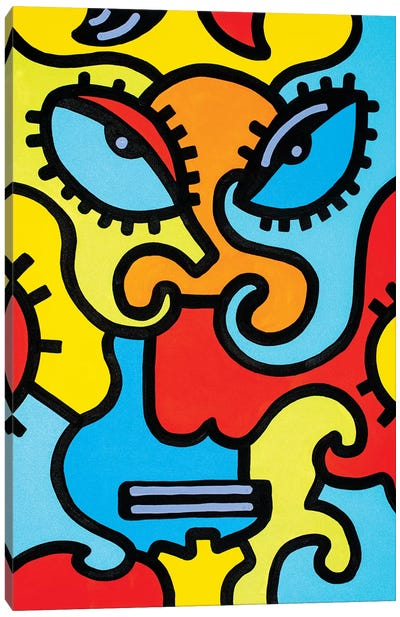 Shanghai Mask Canvas Art Print