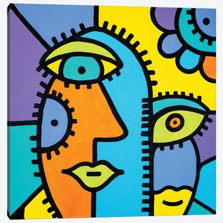 Sisters Canvas Print #BTA11} by Billy The Artist Canvas Art Print